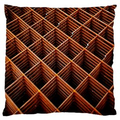 Metal Grid Framework Creates An Abstract Standard Flano Cushion Case (two Sides)