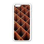 Metal Grid Framework Creates An Abstract Apple iPhone 6/6S White Enamel Case Front