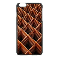 Metal Grid Framework Creates An Abstract Apple Iphone 6 Plus/6s Plus Black Enamel Case