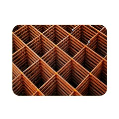 Metal Grid Framework Creates An Abstract Double Sided Flano Blanket (Mini)