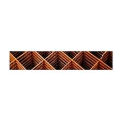 Metal Grid Framework Creates An Abstract Flano Scarf (Mini)