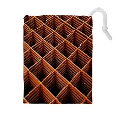 Metal Grid Framework Creates An Abstract Drawstring Pouches (extra Large)