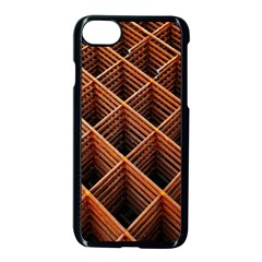 Metal Grid Framework Creates An Abstract Apple Iphone 7 Seamless Case (black)