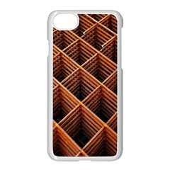 Metal Grid Framework Creates An Abstract Apple Iphone 7 Seamless Case (white)