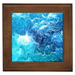 Fractal Occean Waves Artistic Background Framed Tiles