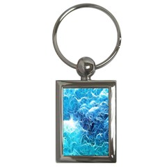 Fractal Occean Waves Artistic Background Key Chains (rectangle)