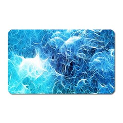 Fractal Occean Waves Artistic Background Magnet (rectangular)