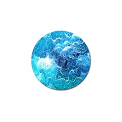 Fractal Occean Waves Artistic Background Golf Ball Marker (10 Pack)