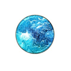 Fractal Occean Waves Artistic Background Hat Clip Ball Marker (10 Pack)