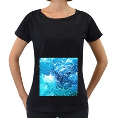 Fractal Occean Waves Artistic Background Women s Loose Fit T Shirt (black)