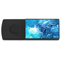 Fractal Occean Waves Artistic Background Usb Flash Drive Rectangular (4 Gb)
