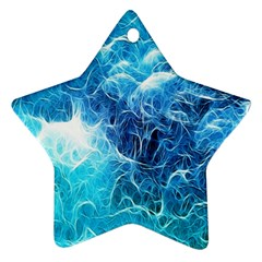 Fractal Occean Waves Artistic Background Star Ornament (Two Sides)