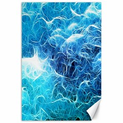Fractal Occean Waves Artistic Background Canvas 24  X 36
