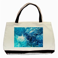 Fractal Occean Waves Artistic Background Basic Tote Bag (two Sides)