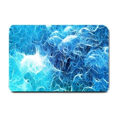Fractal Occean Waves Artistic Background Small Doormat