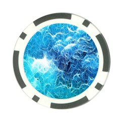 Fractal Occean Waves Artistic Background Poker Chip Card Guard