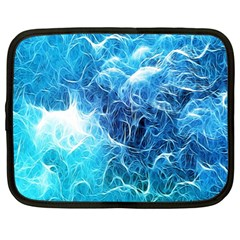 Fractal Occean Waves Artistic Background Netbook Case (Large)