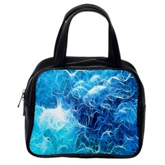 Fractal Occean Waves Artistic Background Classic Handbags (one Side)