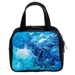 Fractal Occean Waves Artistic Background Classic Handbags (2 Sides)