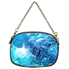 Fractal Occean Waves Artistic Background Chain Purses (One Side)