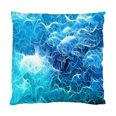 Fractal Occean Waves Artistic Background Standard Cushion Case (two Sides)