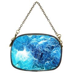 Fractal Occean Waves Artistic Background Chain Purses (two Sides)
