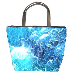 Fractal Occean Waves Artistic Background Bucket Bags