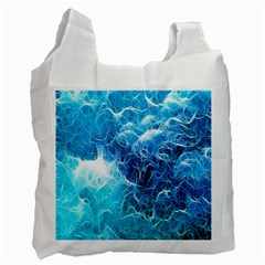 Fractal Occean Waves Artistic Background Recycle Bag (One Side)