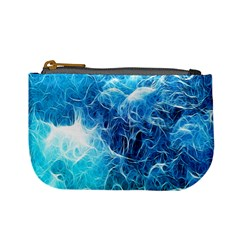 Fractal Occean Waves Artistic Background Mini Coin Purses
