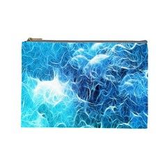 Fractal Occean Waves Artistic Background Cosmetic Bag (large)