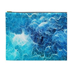 Fractal Occean Waves Artistic Background Cosmetic Bag (XL)