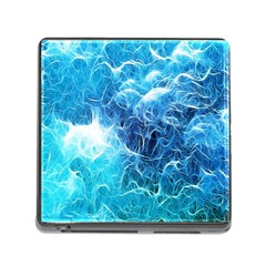 Fractal Occean Waves Artistic Background Memory Card Reader (square)