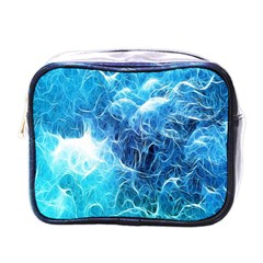 Fractal Occean Waves Artistic Background Mini Toiletries Bags