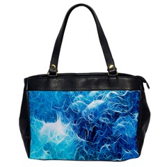 Fractal Occean Waves Artistic Background Office Handbags