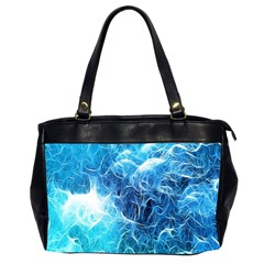 Fractal Occean Waves Artistic Background Office Handbags (2 Sides)