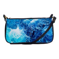 Fractal Occean Waves Artistic Background Shoulder Clutch Bags
