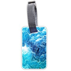 Fractal Occean Waves Artistic Background Luggage Tags (one Side)