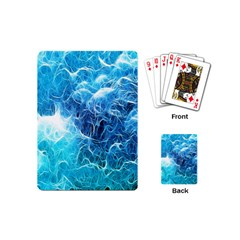 Fractal Occean Waves Artistic Background Playing Cards (mini)