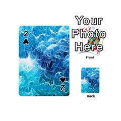 Fractal Occean Waves Artistic Background Playing Cards 54 (mini)