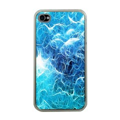 Fractal Occean Waves Artistic Background Apple Iphone 4 Case (clear)