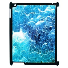 Fractal Occean Waves Artistic Background Apple Ipad 2 Case (black)