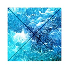 Fractal Occean Waves Artistic Background Acrylic Tangram Puzzle (6  X 6 )