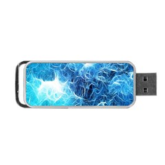 Fractal Occean Waves Artistic Background Portable Usb Flash (two Sides)