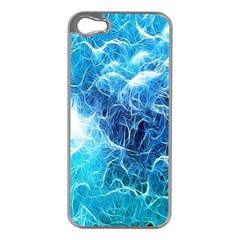 Fractal Occean Waves Artistic Background Apple Iphone 5 Case (silver)