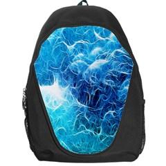 Fractal Occean Waves Artistic Background Backpack Bag