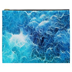 Fractal Occean Waves Artistic Background Cosmetic Bag (xxxl)