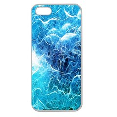 Fractal Occean Waves Artistic Background Apple Seamless Iphone 5 Case (clear)