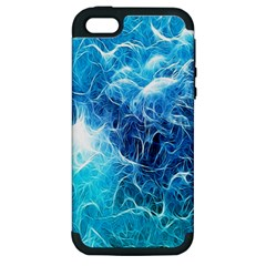Fractal Occean Waves Artistic Background Apple Iphone 5 Hardshell Case (pc+silicone)