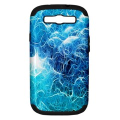 Fractal Occean Waves Artistic Background Samsung Galaxy S Iii Hardshell Case (pc+silicone)