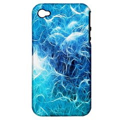 Fractal Occean Waves Artistic Background Apple Iphone 4/4s Hardshell Case (pc+silicone)